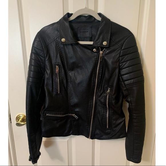 Blank NYC Leather Moto Zip Jacket